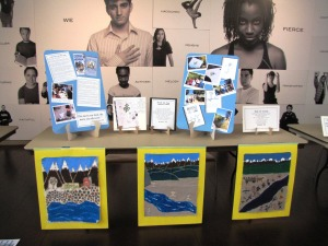 2012 Steelhead Festival art show, pieces by Kohl students.